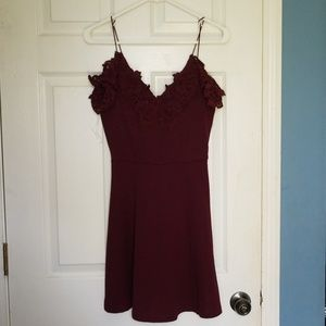 NWOT Burgandy dress